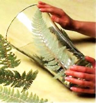 azos dekoravimas paparčio lapu