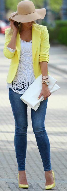 Yellow Touch Outfit Idea