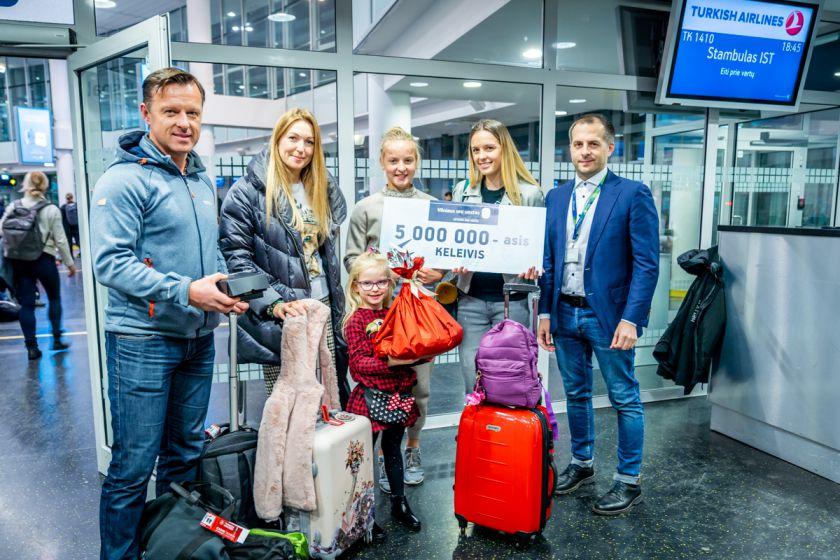 Vilniaus oro uostas metus palydėjo rekordu: 2019 metais sostinės oro uoste keliavo 5 mln. keleivių