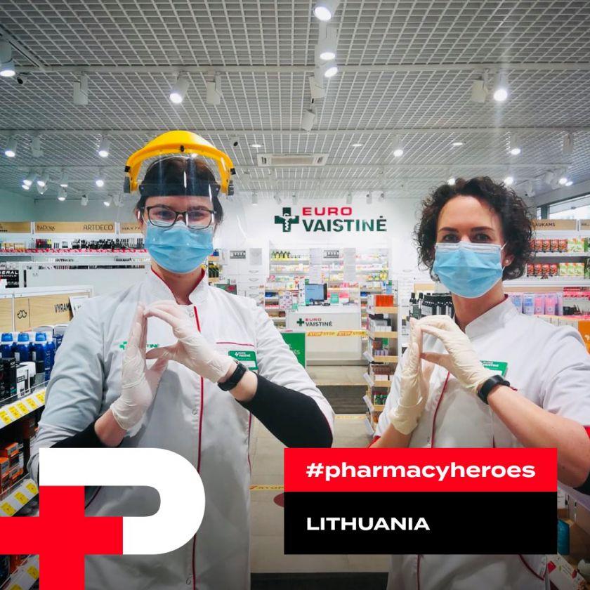 """Lietuvos vaistininkai pasaulinės iniciatyvos """"Farmacijos herojai"""" dalyviai"""