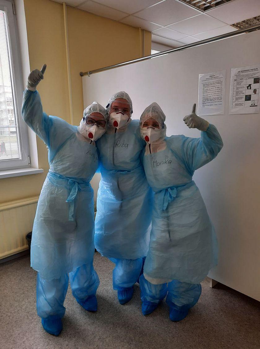 """Šeimos klinikų tinklo """"MediCA klinika"""" savanoriai prisideda prie kovos su plintančiu koronavirusu"""