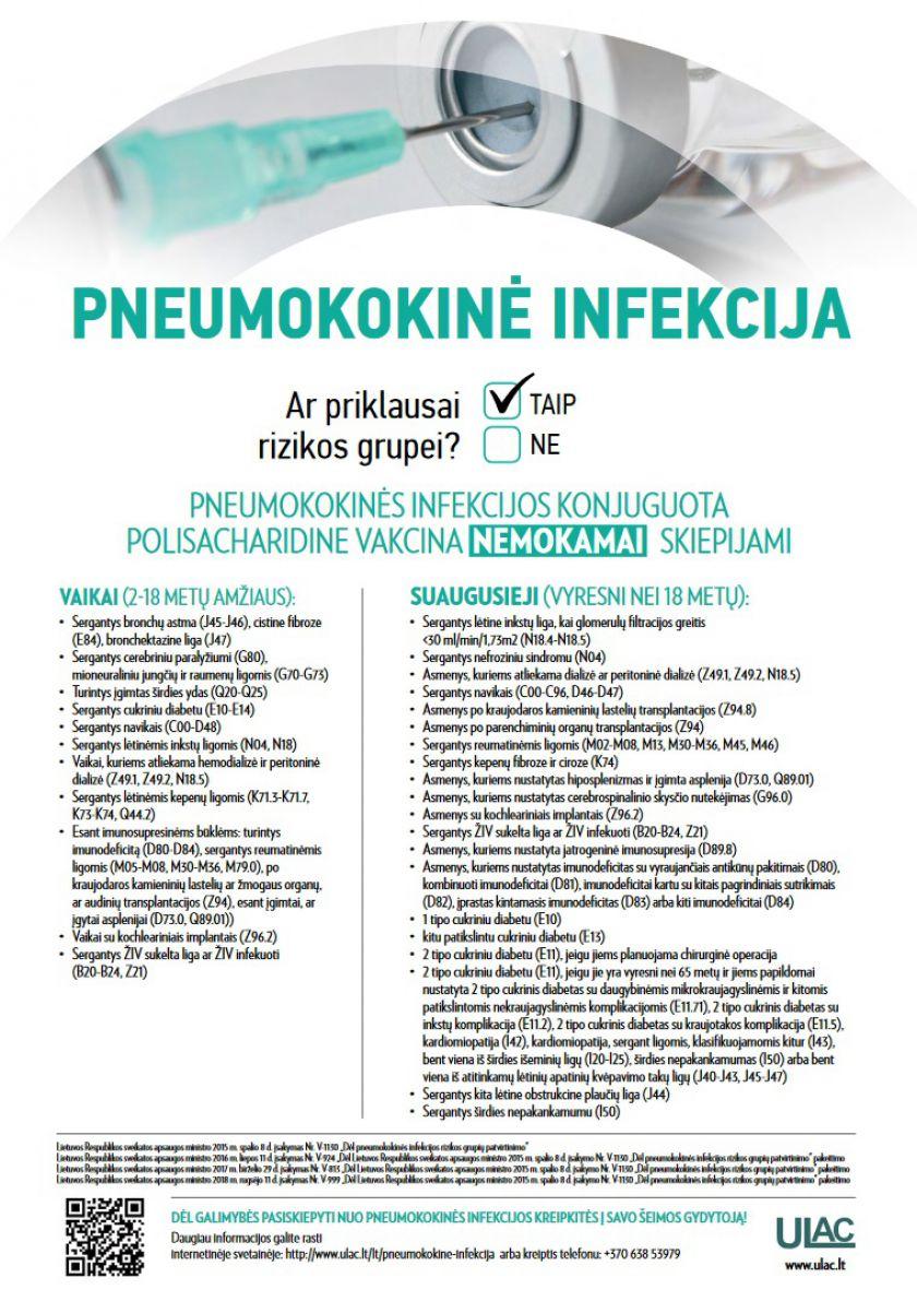 Pasinaudokite galimybe pasiskiepyti nuo pneumokokinės infekcijos